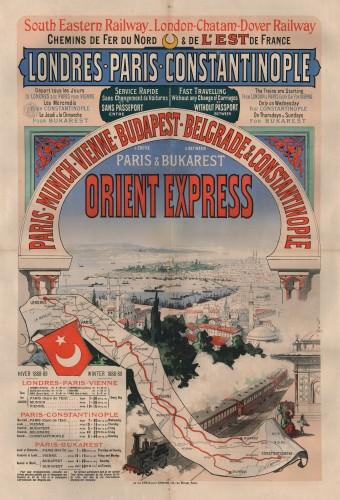 Eerste affiche Orient-Express, 1888 (collectie Arjan den Boer)