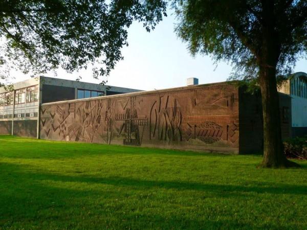Muurreliëf broodfabriek Vermaat, Haarlem Foto: Historische Vereniging Haerlem