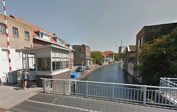 Ooievaarsbrug, Schiedam Foto: Google Maps