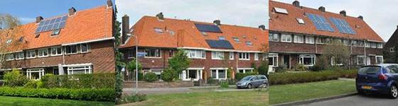 Zonnepanelen in Hilversum Foto: Harriën Jan van Dijk via Platform VOER