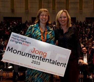 Karen Schenk, Jong Monumententalent 2015 Foto: RCE