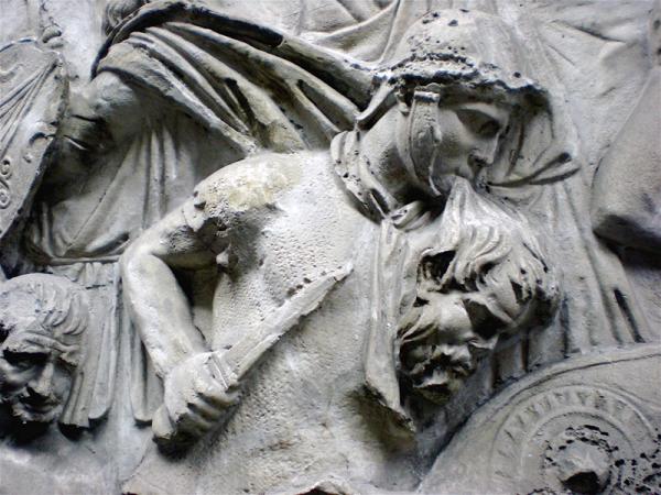 Trajanuszuil. Overwinning van Trajanus op het opstandige Dacië. Kessel?
