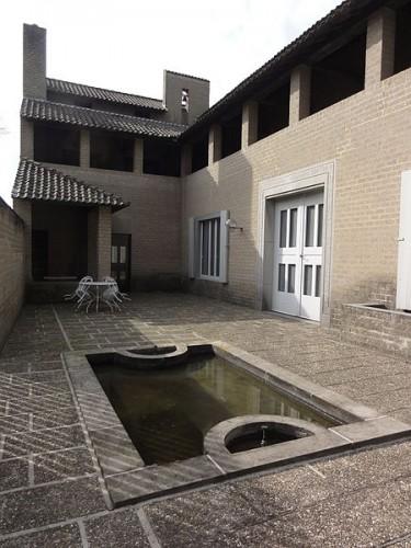 Schaijk (Landerd, N-Br) Huis van Jan de Jong, terras met woonvleugel. Architect Jan de Jong. Foto: Havang(nl)