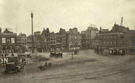 Telefoonmast Dam, Amsterdam Foto: onbekend via Gemeente Amsterdam