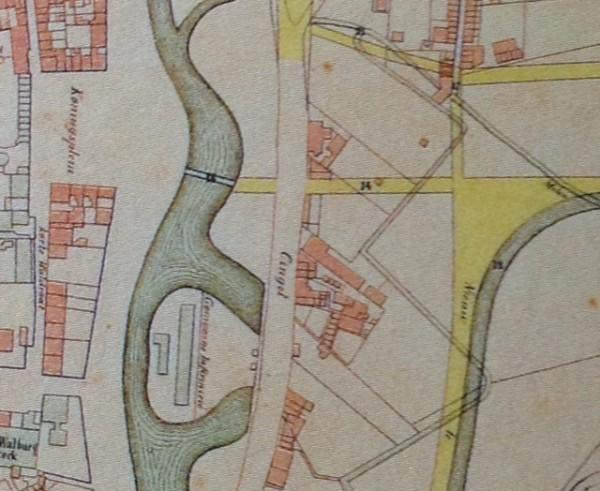Uitsnede kaart Arnhem Beeld: Heuvelink via anrhems-erfgoed.nl