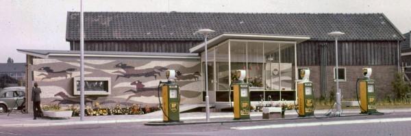 Het benzinestation is vroeger tijden