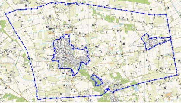 Plangebied Omgevingsplan Boekel Beeld: Gemeente Boekel