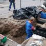 Botten en overkluisde Sint-Jansbeek onder Trans in Arnhem