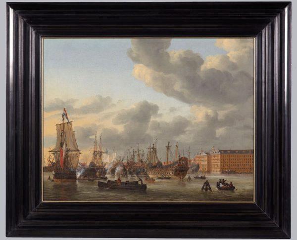 Gezicht op het IJ, Reinier Nooms Beeld via Scheepvaartmuseum