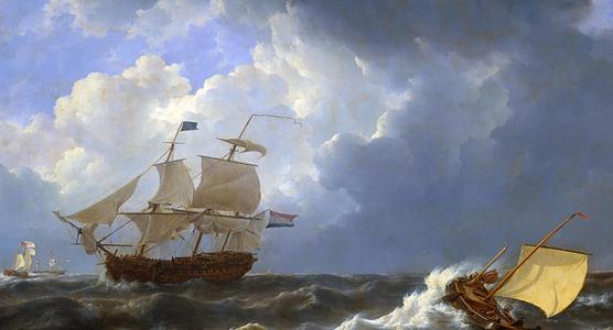 Scheepvaart naar Nederlands-Indië Beeld: onbekend via NHF