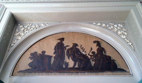 Schilderstuk Huis Barnaart Foto: Hendrick de Keyser