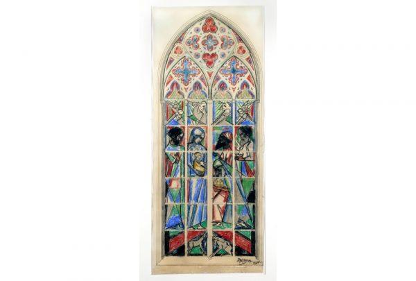 Ontwerp Glas in loodraam Domkerk Jan Toorop