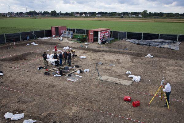 Opgraving Merovingisch grafveld Borgharen, Maastricht Foto: RCE