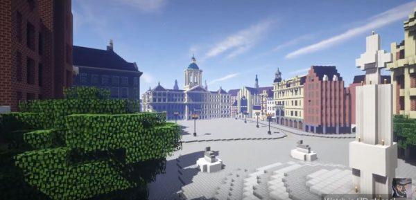 Amsterdam, Minecraft Beeld via Youtube
