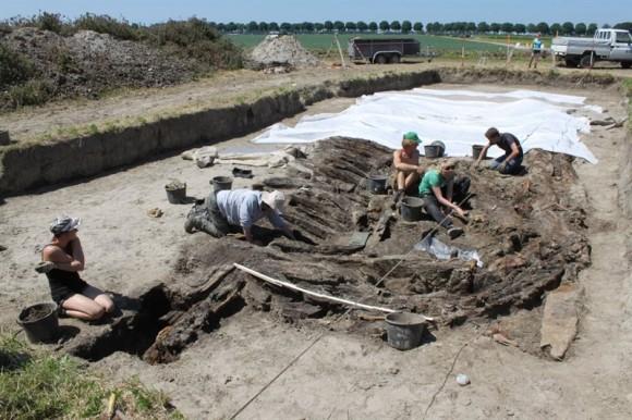 Opgraving scheepswrak, Dronten Foto: RCE