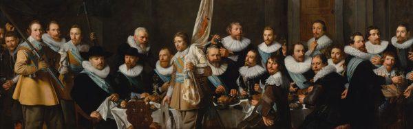 Maaltijd van schutters van de compagnie van kapitein Jacob Backer en luitenant Jacob Rogh, 1632, N. E. Pickenoy Beeld: Amsterdam Museum