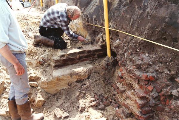 Archeologisch onderzoek bij het 'Vergeten' kasteel van Oss Foto: Stadsarchief Oss