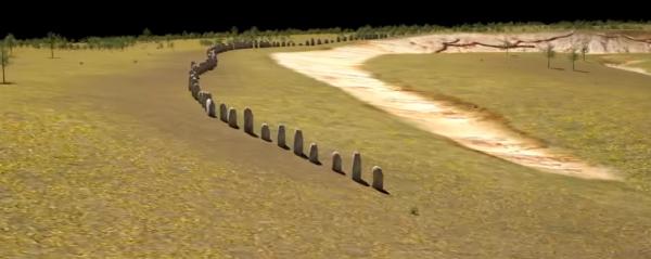 Render van de 'Superhenge' Beeld: LBI ArchPro via youtube