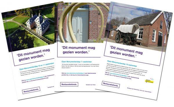 Posters Open Monumentendag Beeld: Nationaal Restauratiefonds