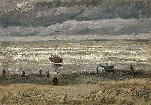 Zeegezicht bij Scheveningen, 1882 Vincent van Gogh via Van Gogh Museum