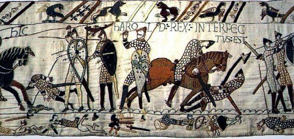 De dood van Harold tijdens de Slag van Hastings Foto: Publiek domein via wikimedia