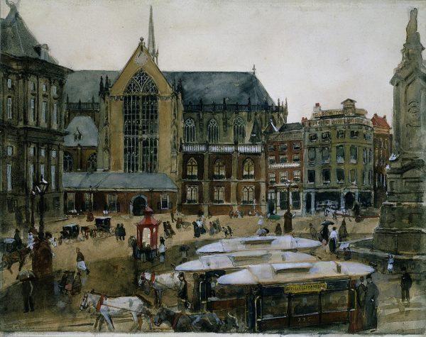 Gezicht op de Dam, Amsterdam Beeld: Breitner via wikimedia