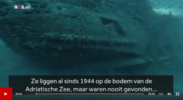 Scheepswrak Adriatische Zee Beeld: NOS