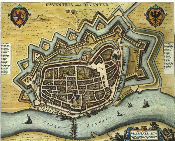 Deventer in 1652 Beeld: Blaeu via wikimedia