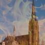 Deel toren Sint-Laurentiuskerk Weesp ingestort na brand