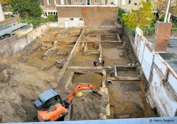 Opgravingen Commandantshuis, Roermond Foto via Stichting Ruimte