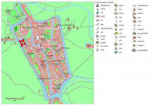 Kaartbeeld van Utrecht uit de Kaart van de verstedelijking