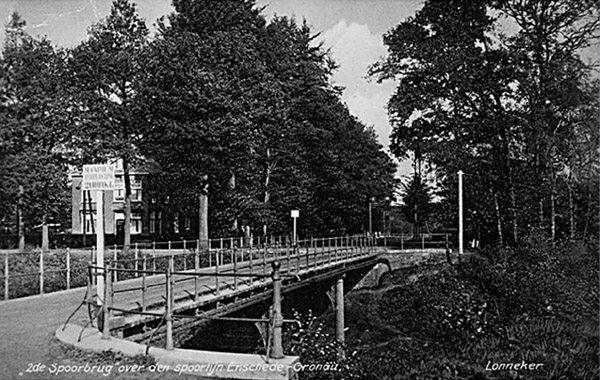 Spoorbrug Noord Esmarkerrondweg, Enschede Foto via Heemschut