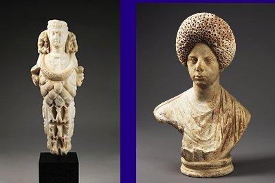 Twee romeinse beelden Beeld: Allard Pierson Museum