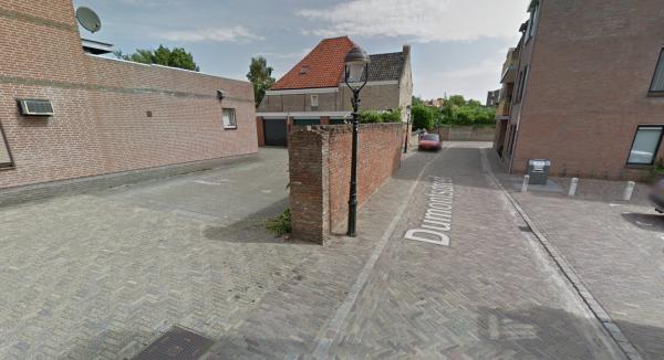 Muur Dumontsdreef, Bergen op Zoom Foto: Google Maps