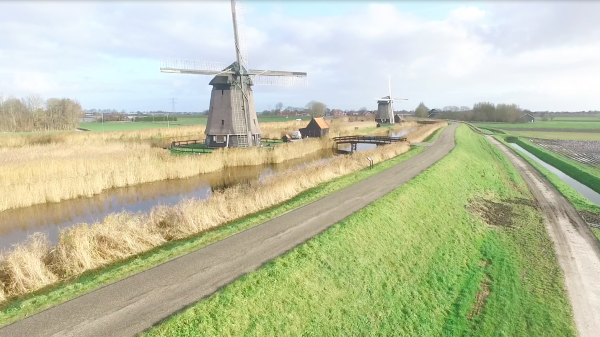 Strijkmolens bij Rustenburg langs de Westfriese Omringdijk, foto René Pronk