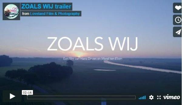 Trailer documentaire 'ZOALS WIJ'