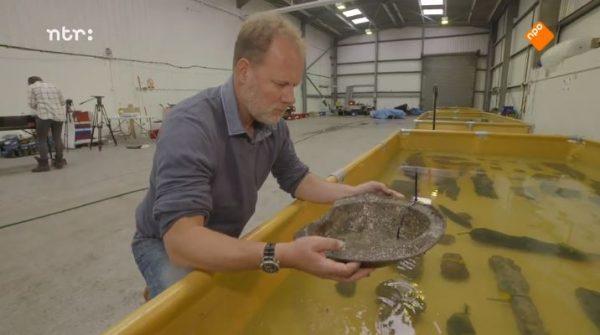 Onderwaterarcheoloog Martijn Manders in Het Klokhuis