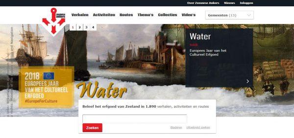 Homepage digitaal platform Zeeuwse Ankers