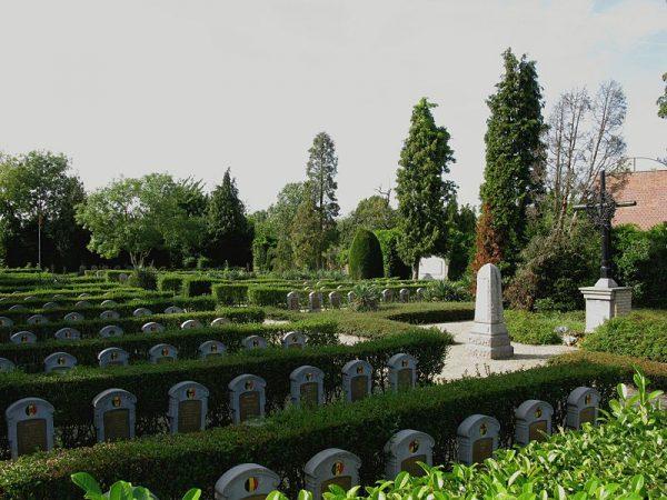 Begraafplaats uit de Eerste Wereldoorlog in Eppegem, Vlaanderen