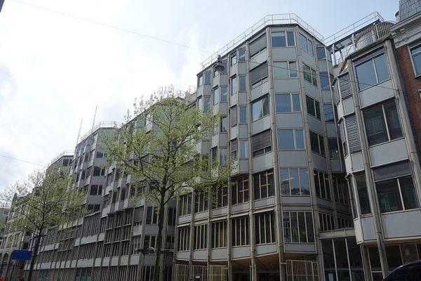 P.C. Hoofthuis in Amsterdam, ontworpen door Theo Bosch (1981-1984)
