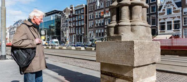 De Mirakelkolom op het Rokin in Amsterdam
