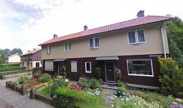 De zes Zweedse huizen aan de Zweedsestraat in Halsteren