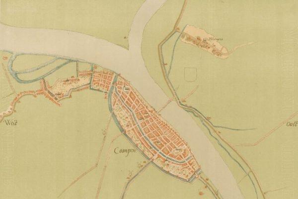 Eén van de vijf kaarten die het Historisch Centrum Overijssel in bezit heeft. De kaarten blijken inderdaad van de hand van Jacob van Deventer en werden in 1870 aangekocht