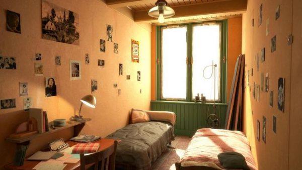 De kamer van Anne Frank in het Achterhuis