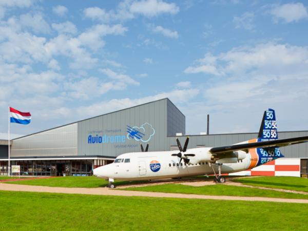 Entree Aviodrome op Lelystad Airport