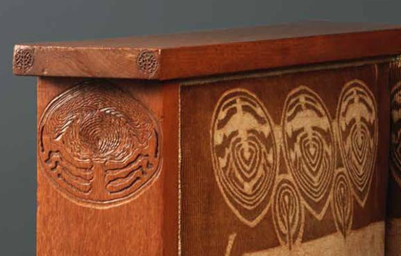 Art Nouveau bankje wegerif