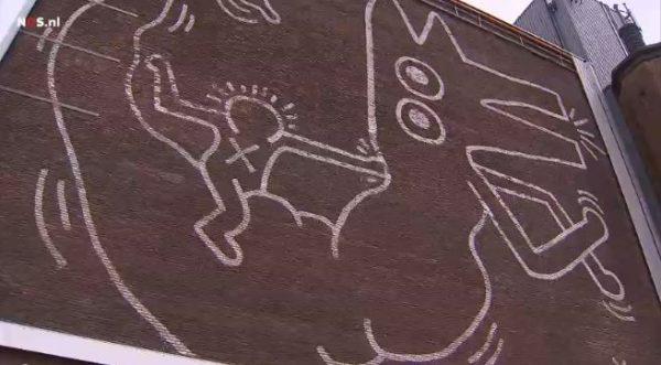 De muurschildering van Keith