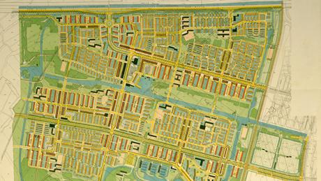 Uitsnede kaart uitbreidingsplan Tuinstad Slotermeer