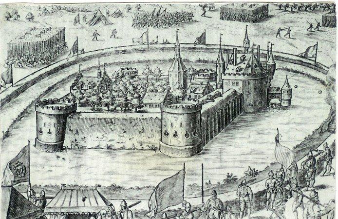 Het Kasteel van Wouw werd in 1583 belegerd