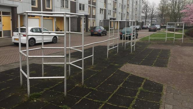 Het klimrek in de Stoomgemaalstraat